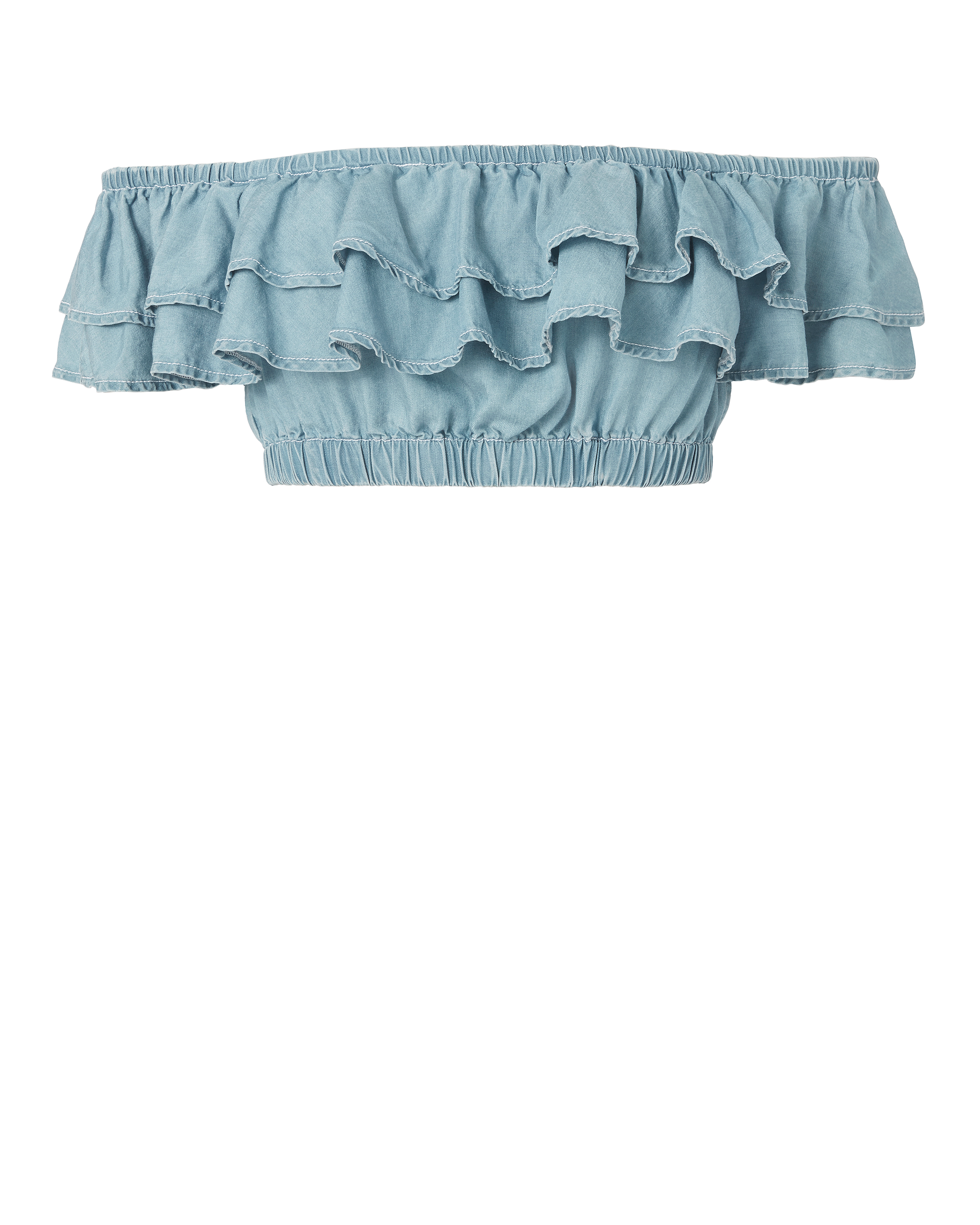 Stand Still Chambray Crop Top