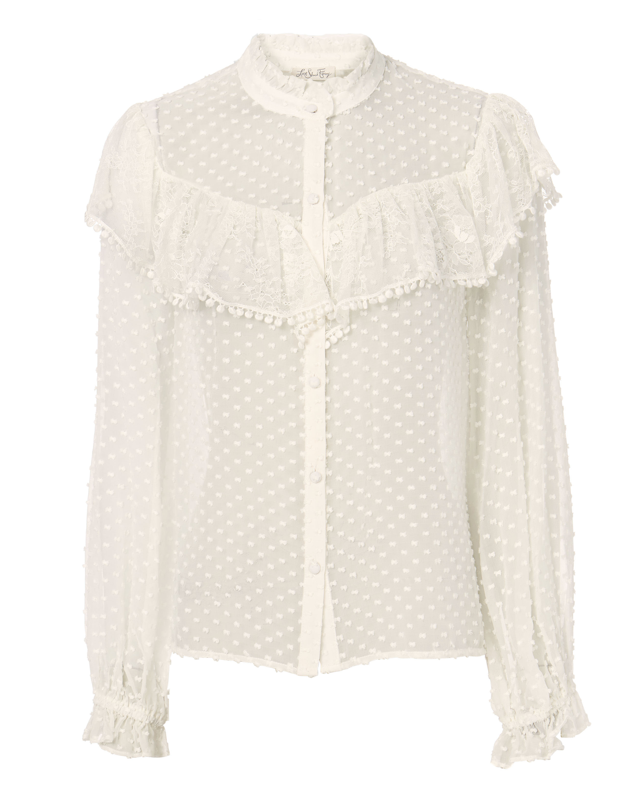 LOVE SHACK FANCY Erica Swiss Dot Blouse