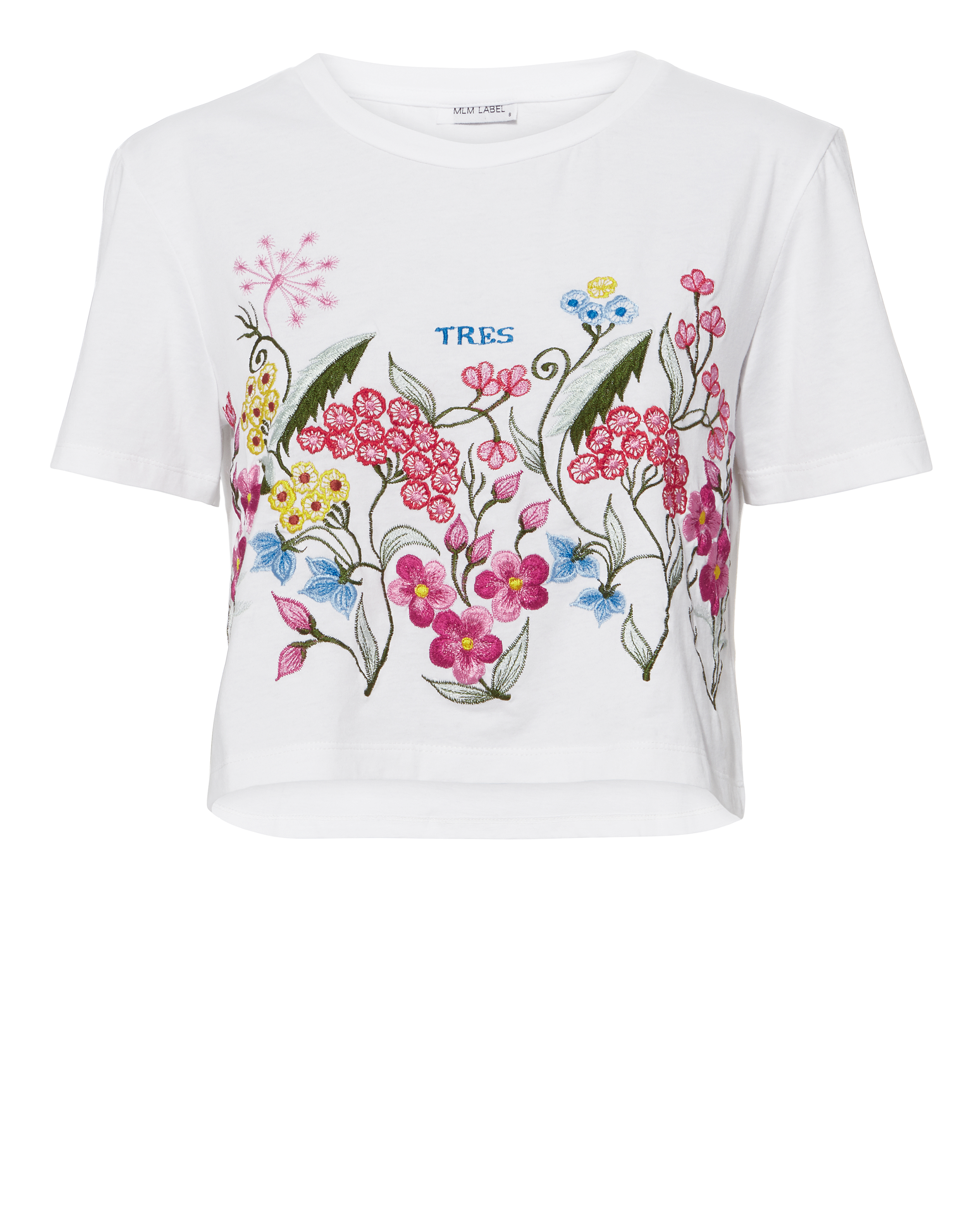 MLM Tres Floral Embroidery Tee