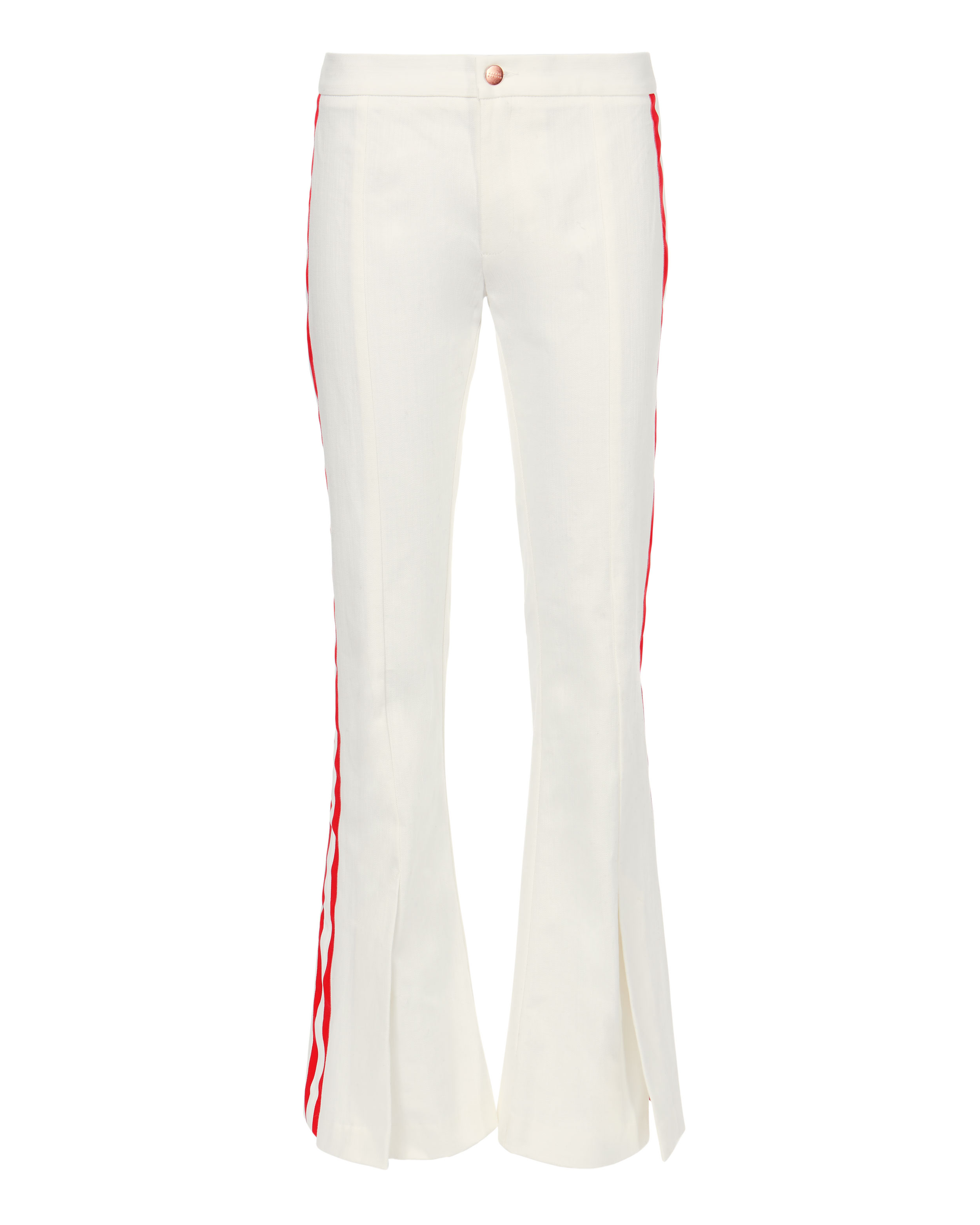 Game Changer Grosgrain-trimmed Mid-rise Bootcut Jeans - White Maggie Marilyn XnlQ7