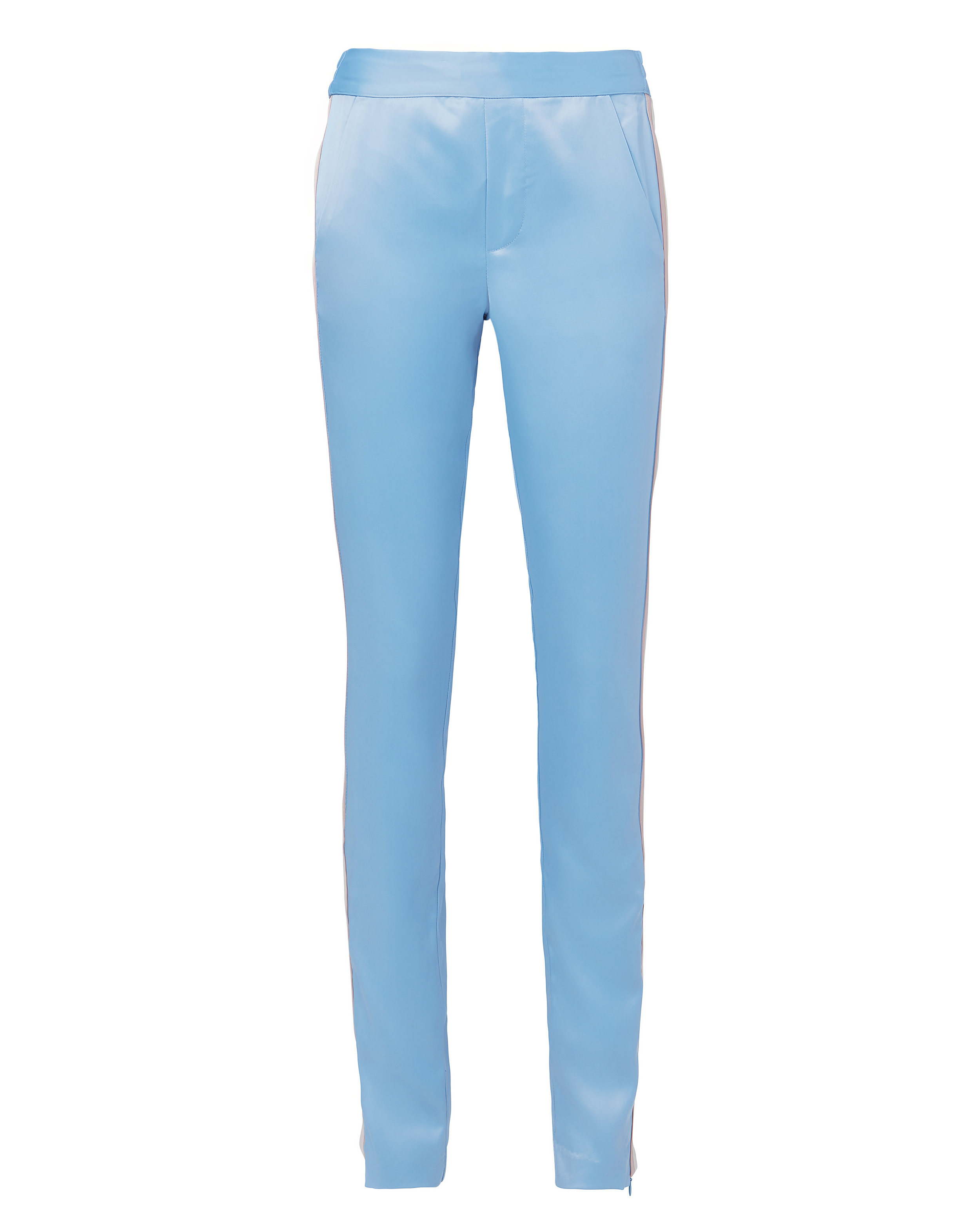 PAM AND GELA Track Striped Silk Pants