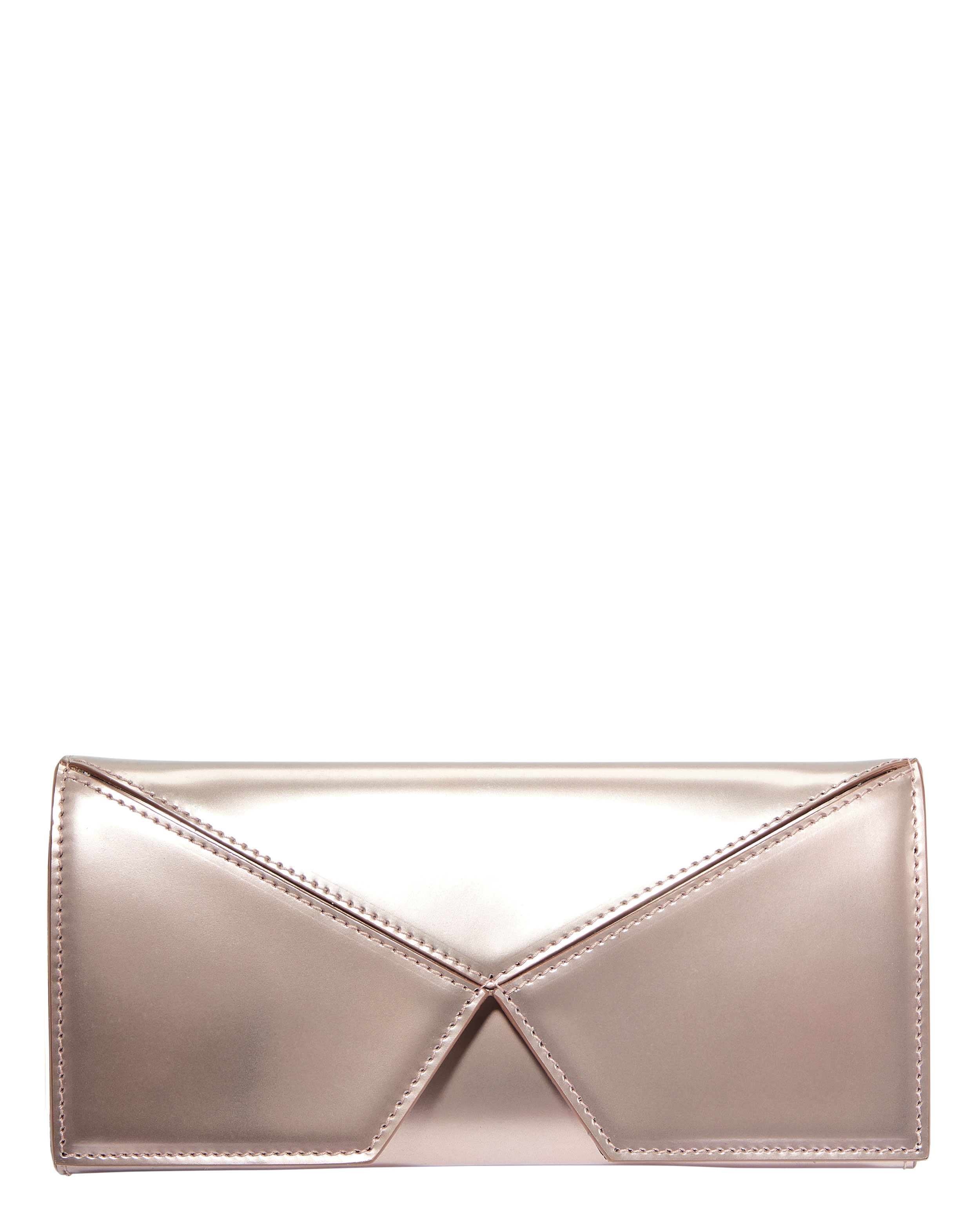 Jack Metallic Pink Clutch