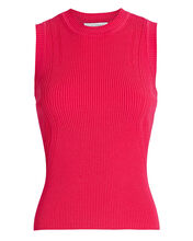 Abby Sleeveless Rib Knit Top, PINK-DRK, hi-res