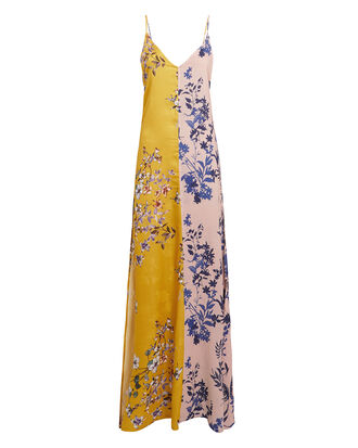 Asni Maxi Dress, MUSTARD/FLORAL/PALE PINK, hi-res