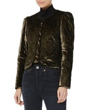 Vienna Gold Quilted Jacket, GOLD, hi-res