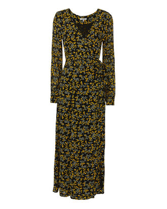 Marceau Wrap Maxi Dress, PRINT, hi-res