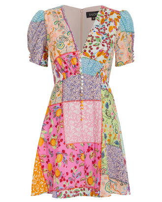Lea Patchwork Dress, MULTI, hi-res