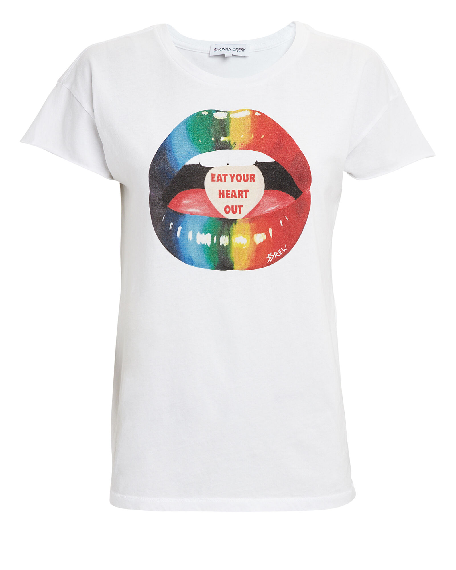 Eat Your Heart Out T-Shirt, WHITE, hi-res