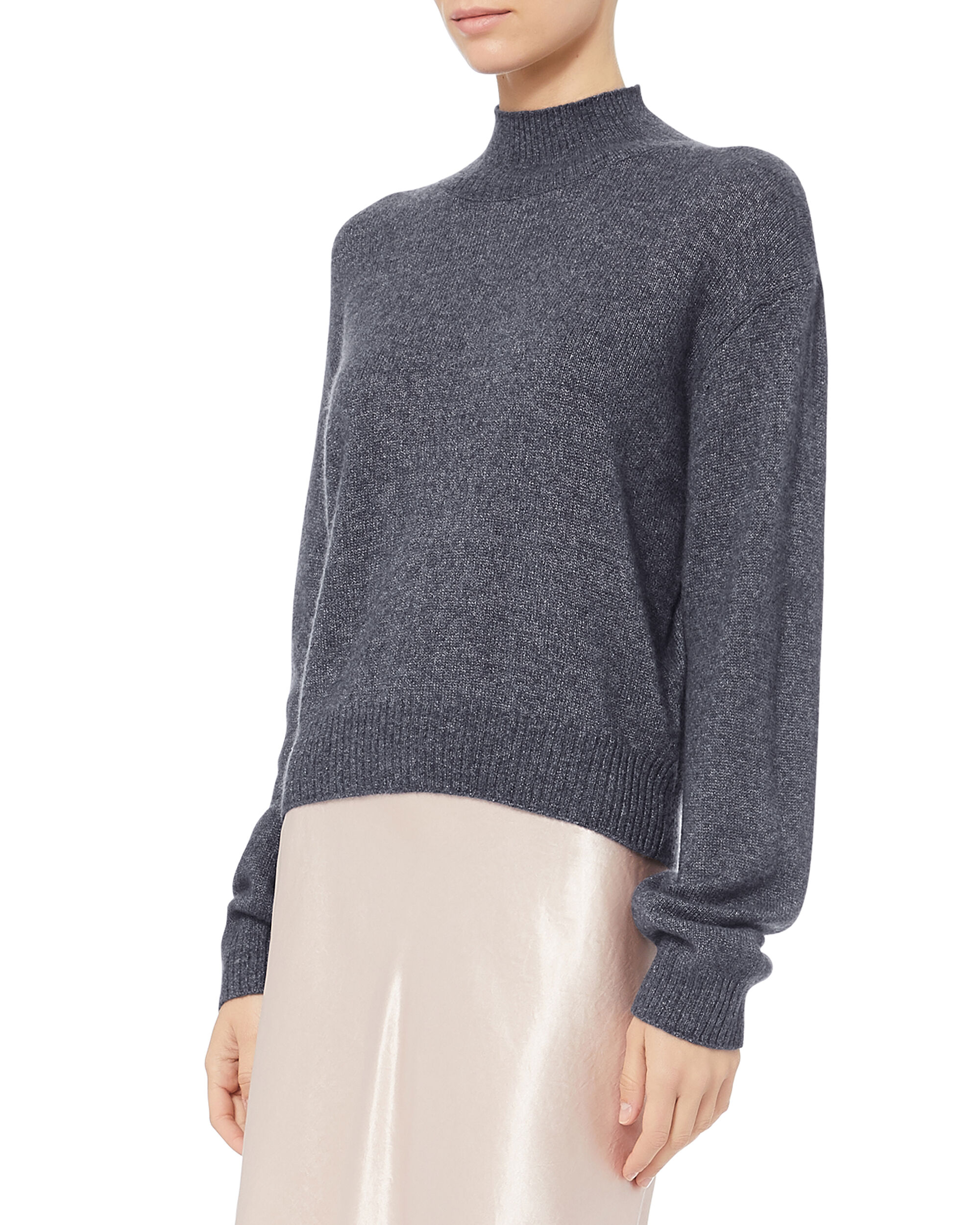 Brushed Cashmere Grey Sweater, GREY, hi-res
