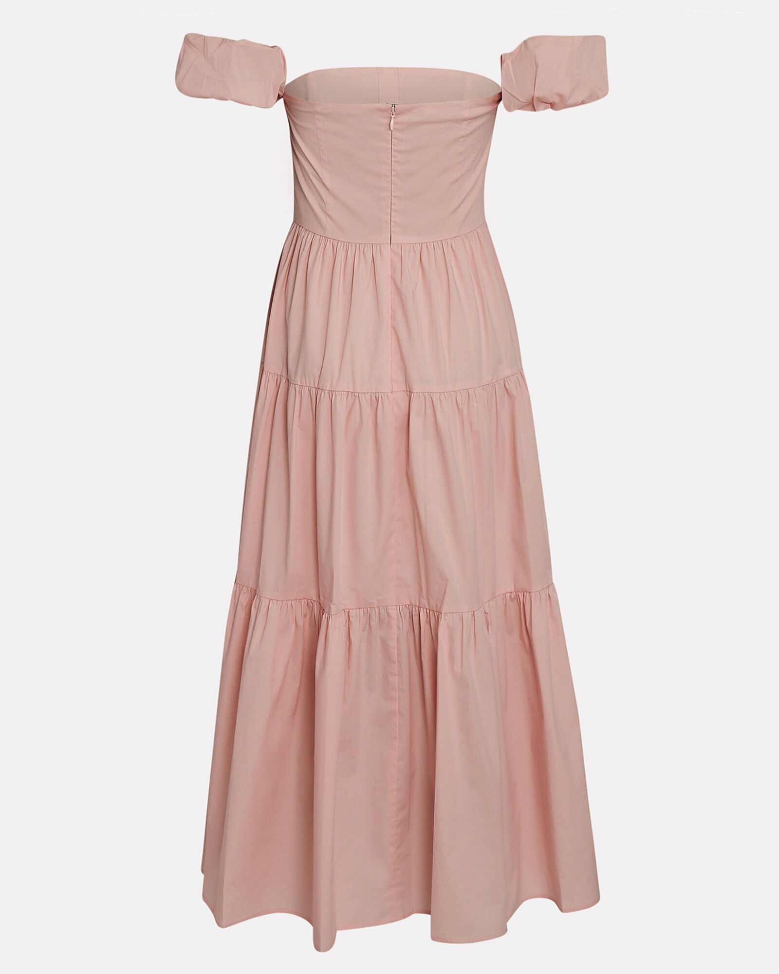 Elio Off-the-Shoulder Cotton Dress, PINK, hi-res