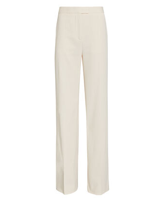 High-Rise Wide-Leg Trousers, IVORY, hi-res