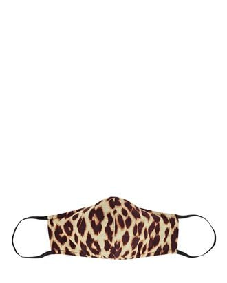 Leopard Printed Face Mask, BEIGE/BLACK, hi-res
