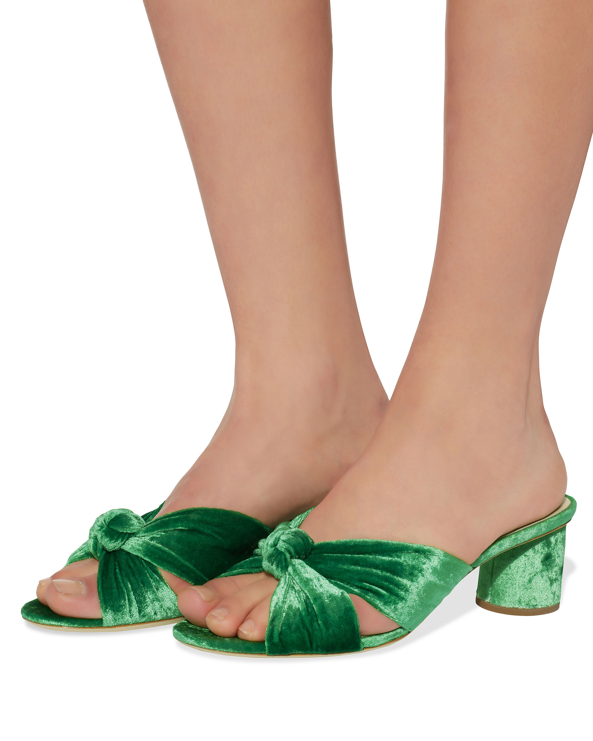 Celeste Emerald Green Slide Sandals, EMERALD, hi-res