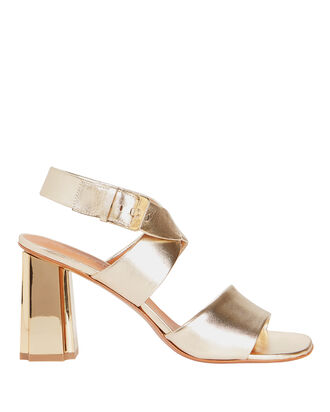 Zora Metallic Sandals, GOLD, hi-res