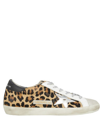 Superstar Leopard Low Top Sneakers, LEOPARD PRINT/SILVER, hi-res