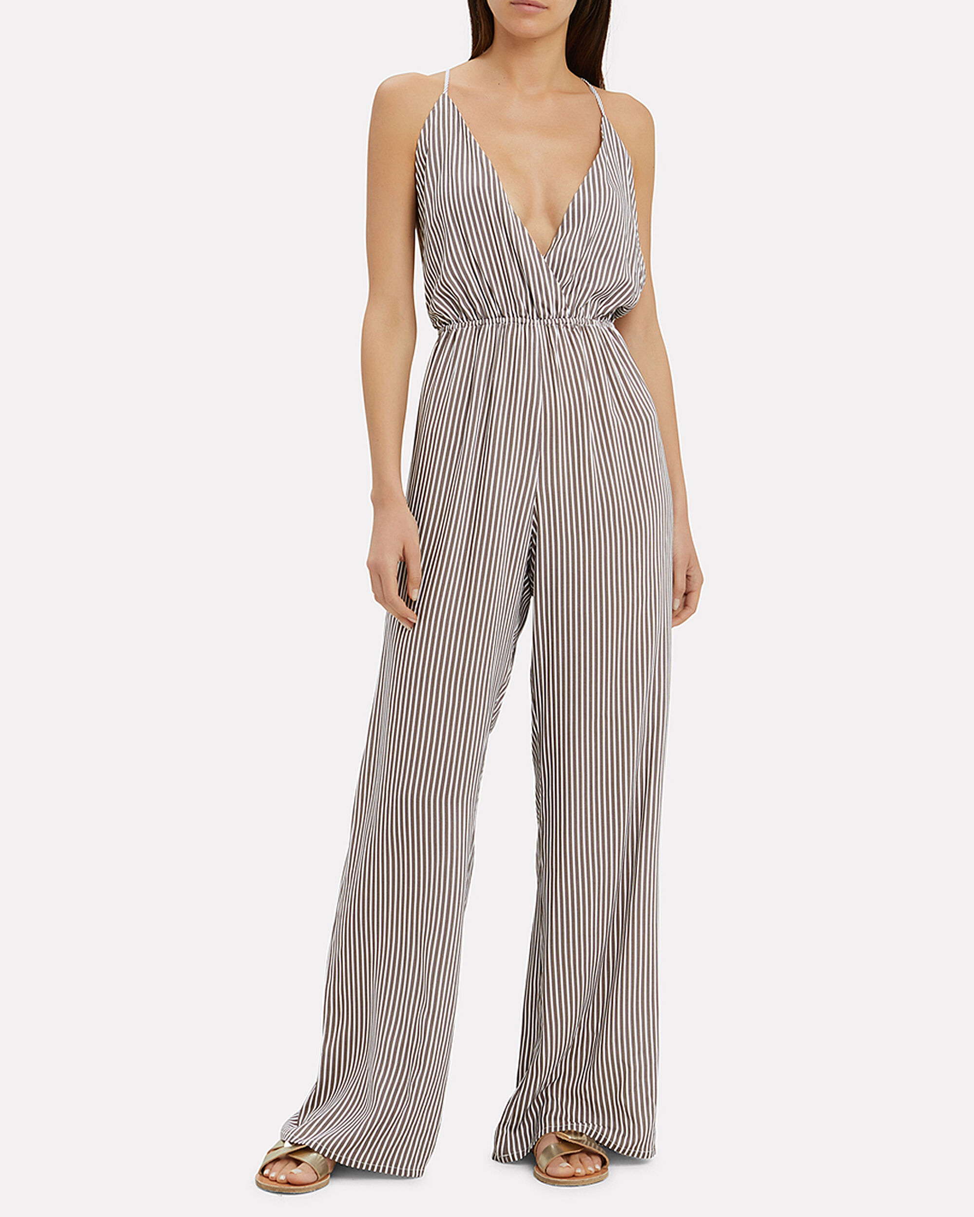 Open Back Striped Jumpsuit, MULTI, hi-res
