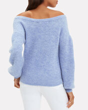 Sabina Off The Shoulder Sweater, BLUE-LT, hi-res