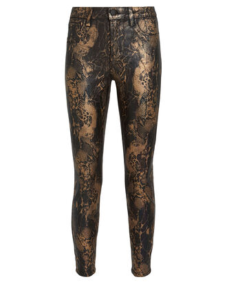 Margot Foiled Snake-Print Skinny Jeans, FOILED SNAKE DENIM, hi-res