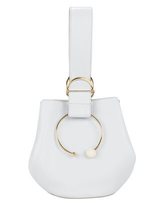 Gem Sphere Hoop Blue Leather Bucket Bag, LIGHT BLUE, hi-res