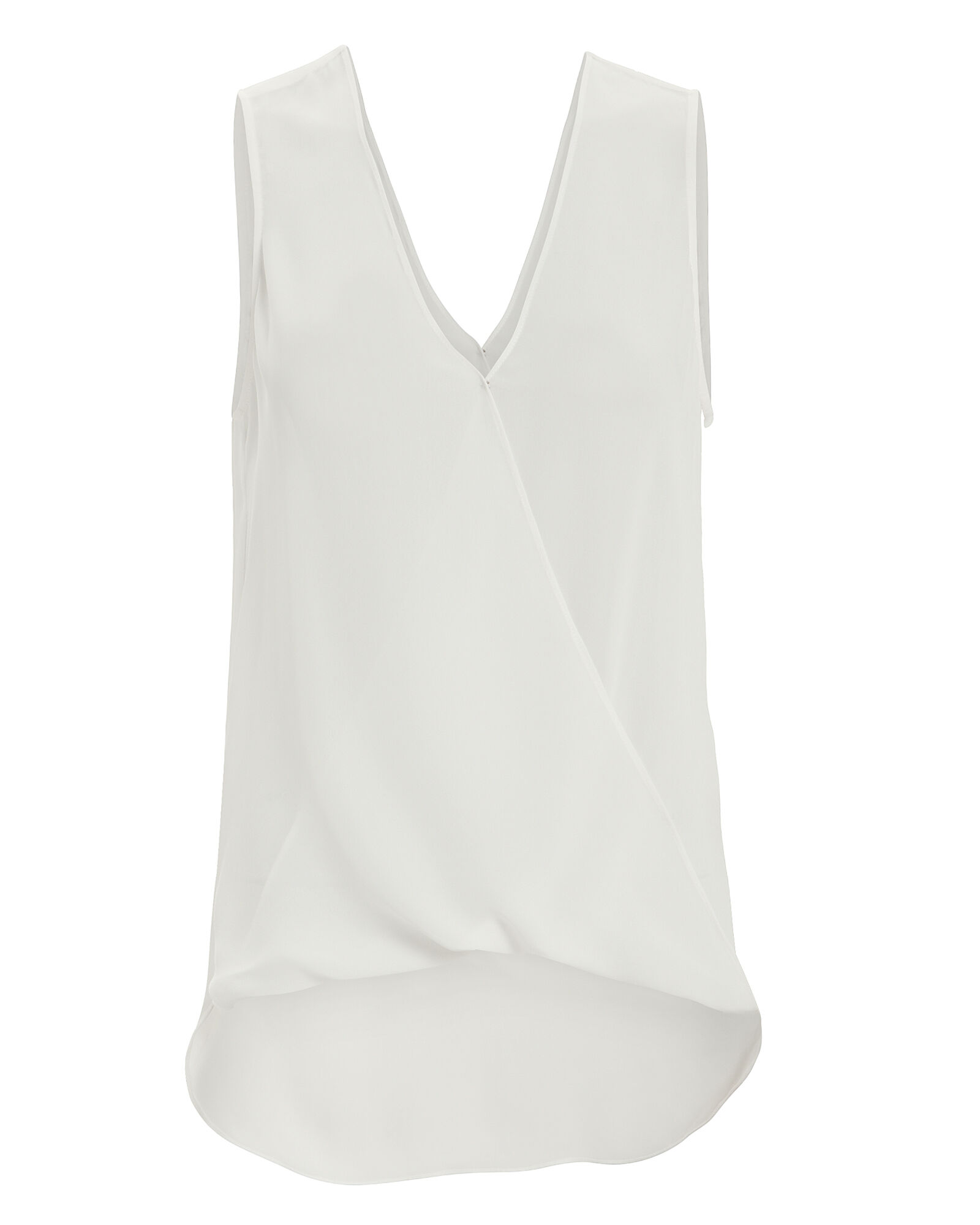 Mila Draped Blouse, WHITE, hi-res
