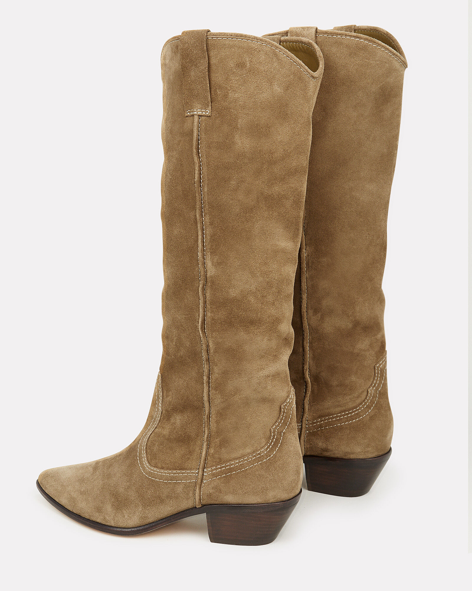 Dylan Western Knee-High Boots, BROWN, hi-res