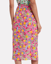 Kelly Draped Crepe Skirt, MULTI, hi-res