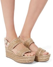 Tiziana Double Strap Wedges, BEIGE, hi-res