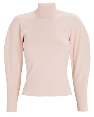 Samuel Puff Sleeve Turtleneck Sweater, PINK, hi-res