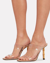 Colette Bamboo and PVC Sandals, CLEAR, hi-res