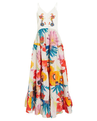 Marieta Gardenia Dress, WHITE/FLORAL, hi-res