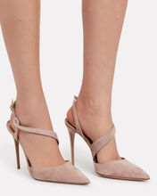 Arden Strappy Suede Pumps, BEIGE, hi-res