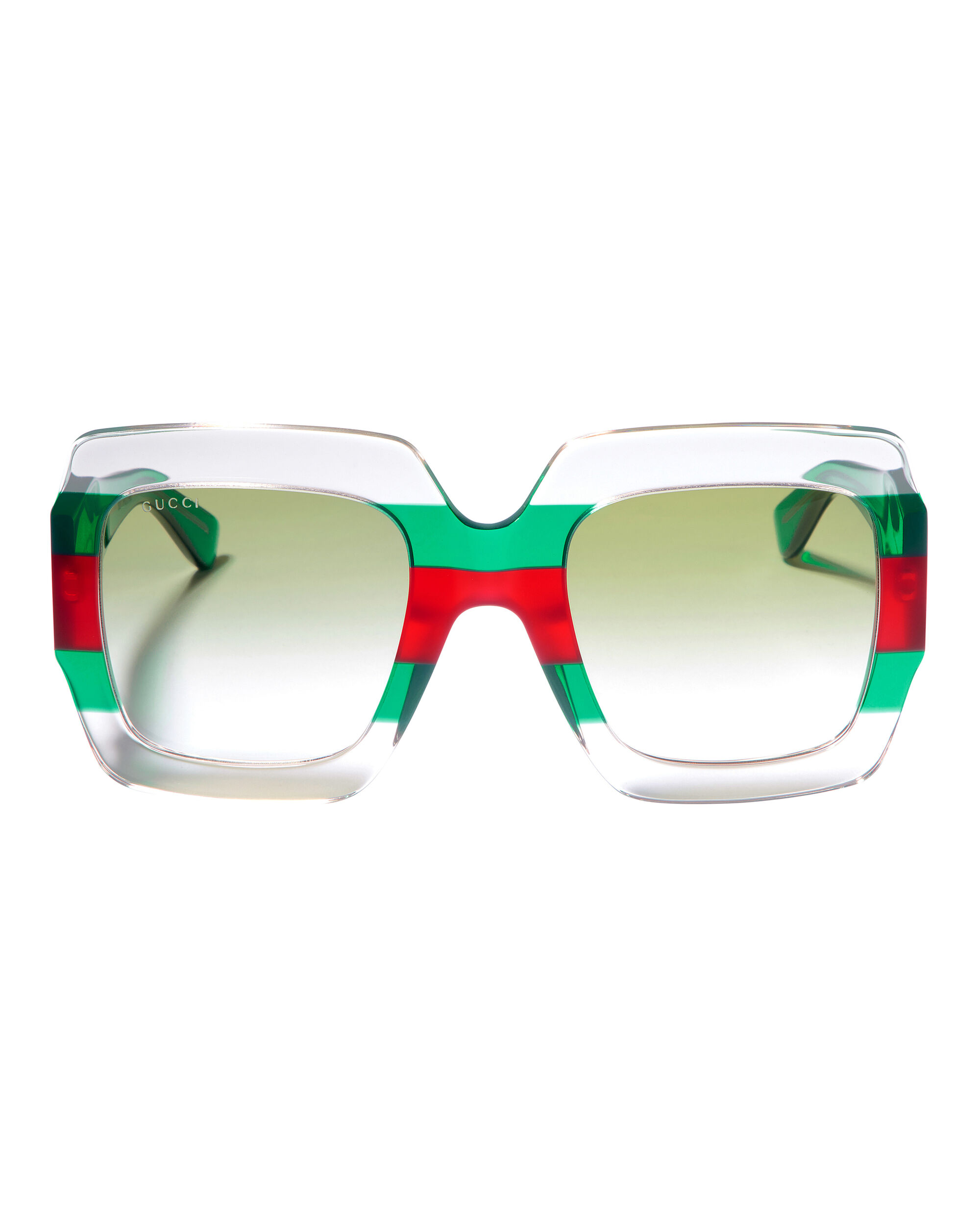 Colorblock Square Sunglasses, CLEAR/RED/GREEN, hi-res