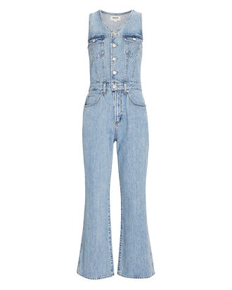 70s Trucker Denim Jumpsuit, DENIM-LT, hi-res