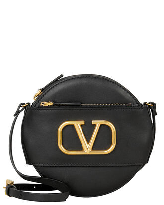 Logo Circle Crossbody Bag, BLACK, hi-res