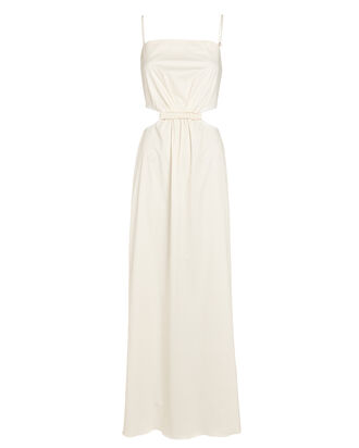 White Sand Cut-Out Maxi Dress, WHITE, hi-res
