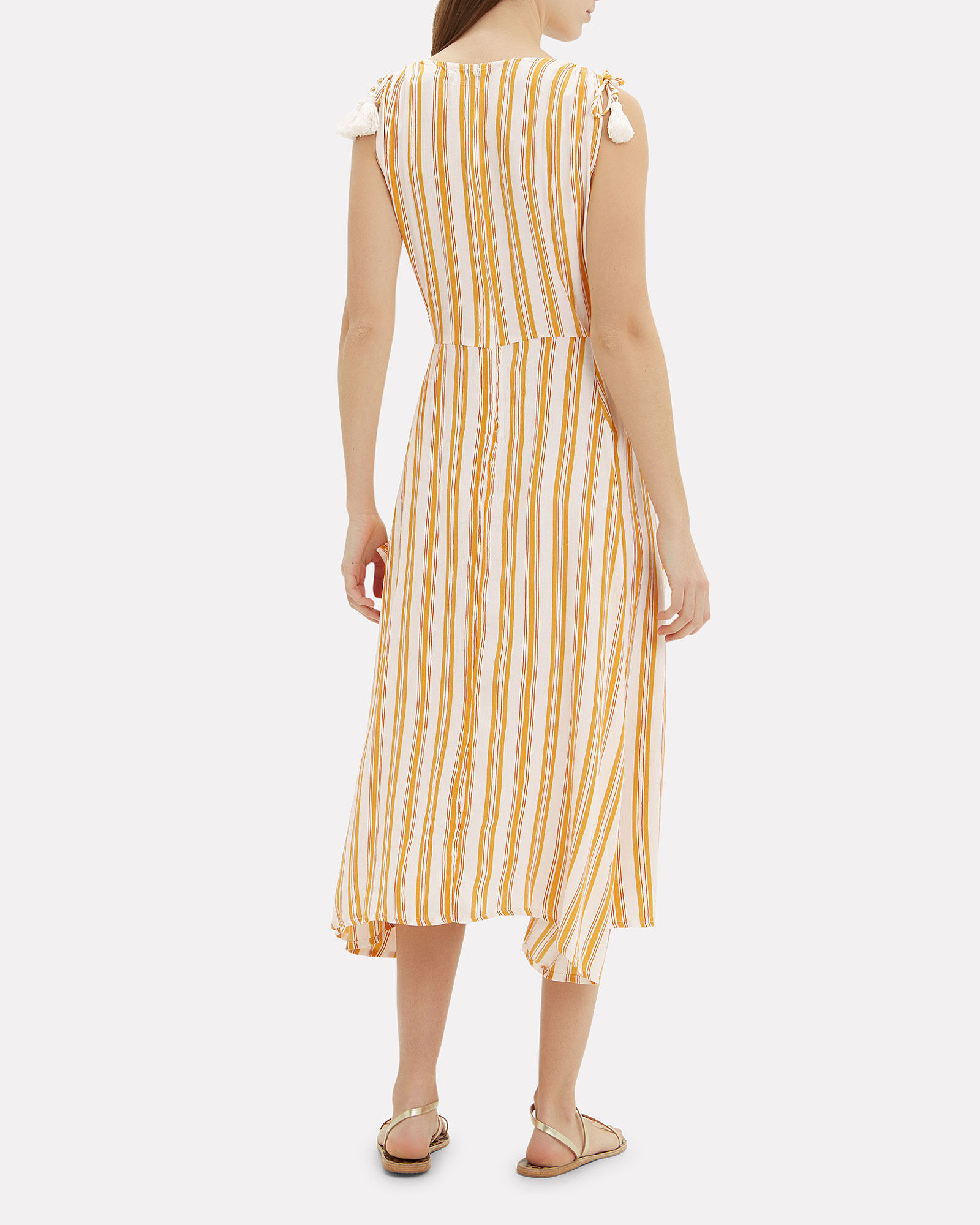 Claudia Striped Midi Dress, MULTI, hi-res