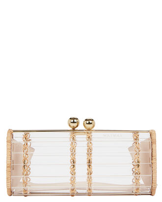 Baoba Rattan Clutch, CLEAR, hi-res