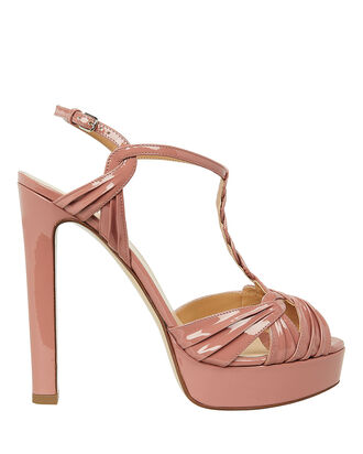 Braided T-Bar Platform Sandals, BLUSH, hi-res