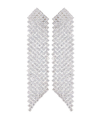 Antoinette Crystal Earrings, CLEAR, hi-res