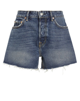Helena Dark Blue Distressed Shorts, DARK BLUE DENIM, hi-res