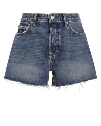 Helena Cut-Off Denim Shorts, DARK WASH DENIM, hi-res