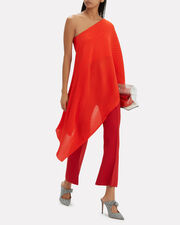 Sierra One Shoulder Top, RED, hi-res