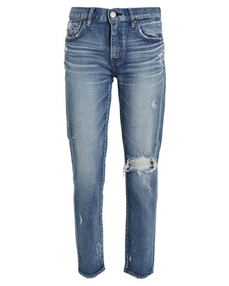 Helendale Distressed Skinny Jeans, LIGHT WASH DENIM, hi-res