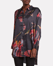 Handle Palm-Printed Blouse, MULTI, hi-res