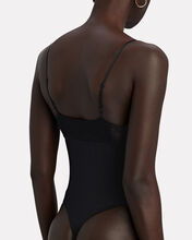 Eco Rib Lace-Trimmed Bodysuit, BLACK, hi-res