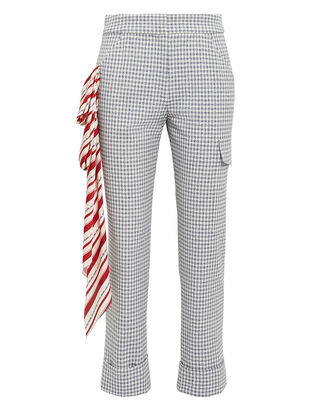 4af7afd260d Beaton Red Scarf Checked Pants