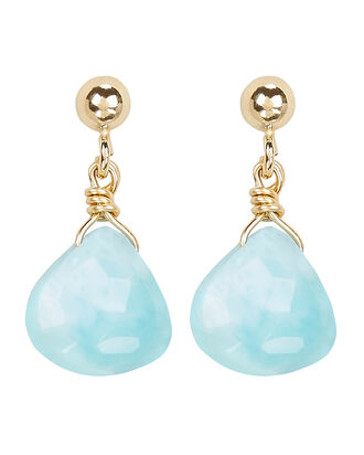Larimar Drop Earrings, BLUE/GOLD, hi-res