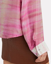 Capella Tie-Dye Silk Shirt, PINK, hi-res