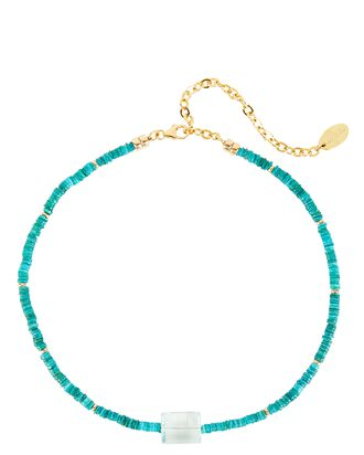 Destination Beaded Necklace, TURQUOISE, hi-res