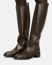 Tammy Knee-High Leather Boots, BROWN, hi-res